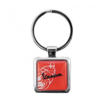 Vespa nyckelring röd