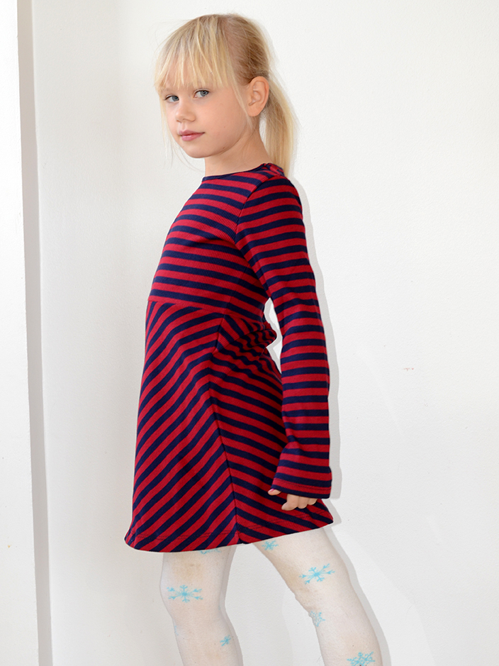 Petit Louie rib stripe red