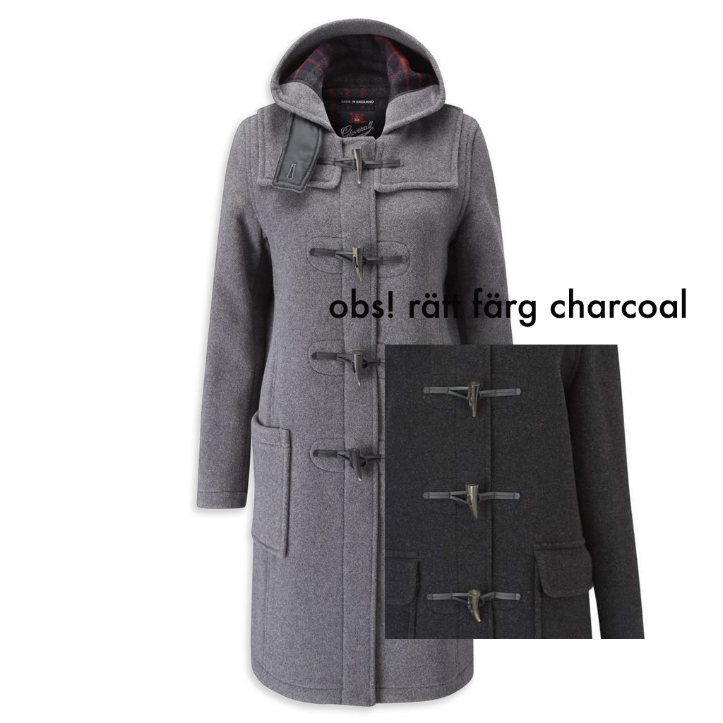 Duffle coat dam charcoal