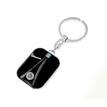 Vespa front nyckelring - svart