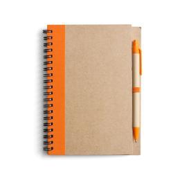 Block Econote inkl penna, Orange