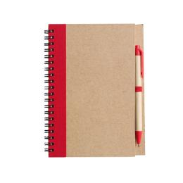 Block Econote inkl penna, Röd