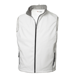 Softshell Vest, Stone White S