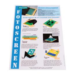 Instruktion screen-fotoschablon