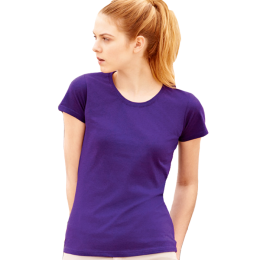 T-shirt Value Lady-Fit, Purple XS