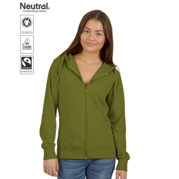 Zip Hoodie Eco Ladies, Neutral