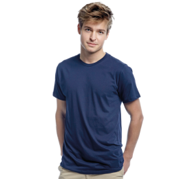 T-shirt Mens Fitted, Label Free, Navy Blue S