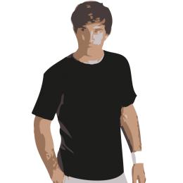 T-shirt Sporty, Svart XS