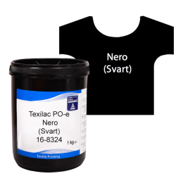 Texilac PO-E, Nero (Svart) ca 1 kg