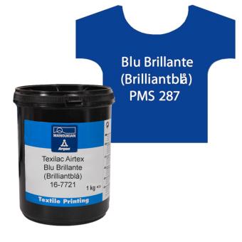 Texilac Airtex, Blu Brillante (Brilliantblå) 1 kg