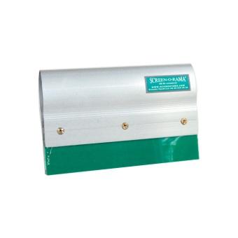 Aluminiumrakel 200 mm med grön 75 shore