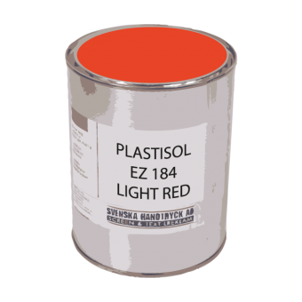 Plastisolfärg EZ Light Red, ca 1 kg