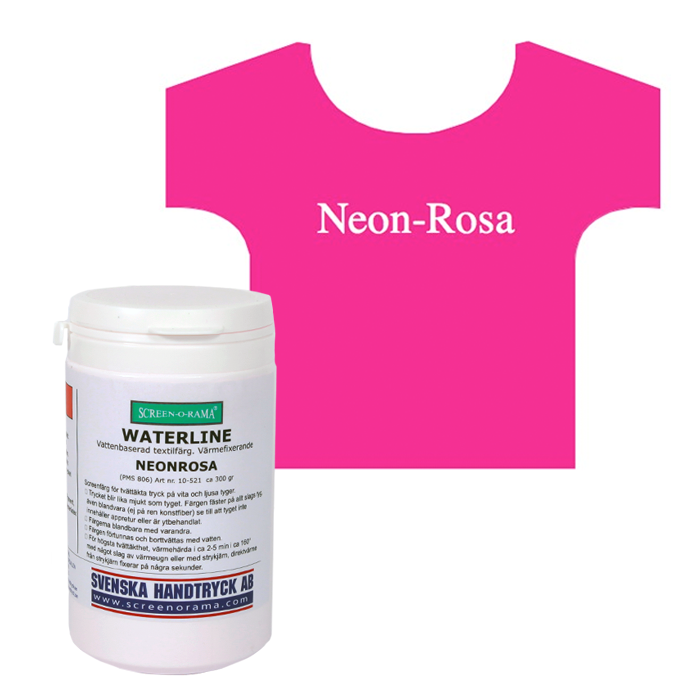 Waterline, Neon-Rosa, ca 300 gr