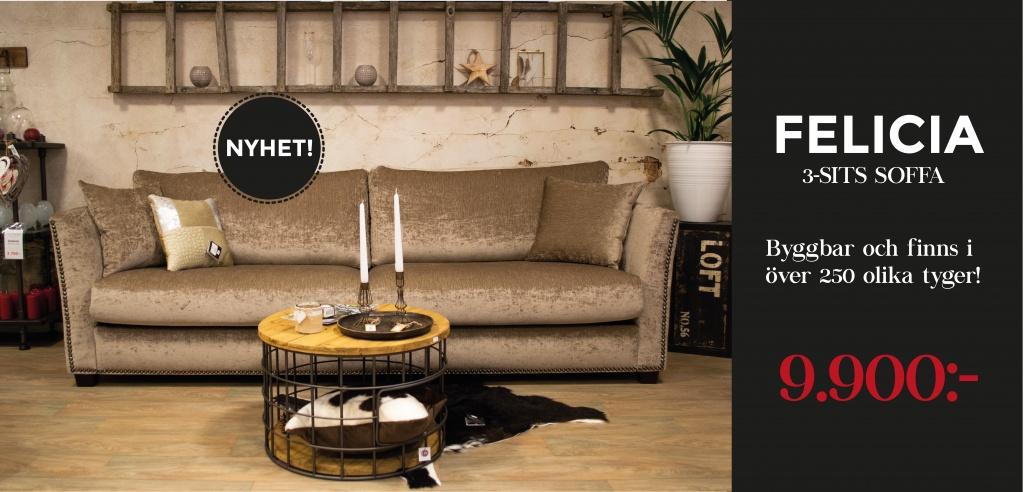 Felicia 3-sits soffa