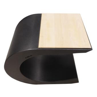 Aika C pall/bord svart/björk