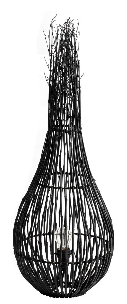 """Golvlampa """"Fishtrap"""" - Bambu Svart"""