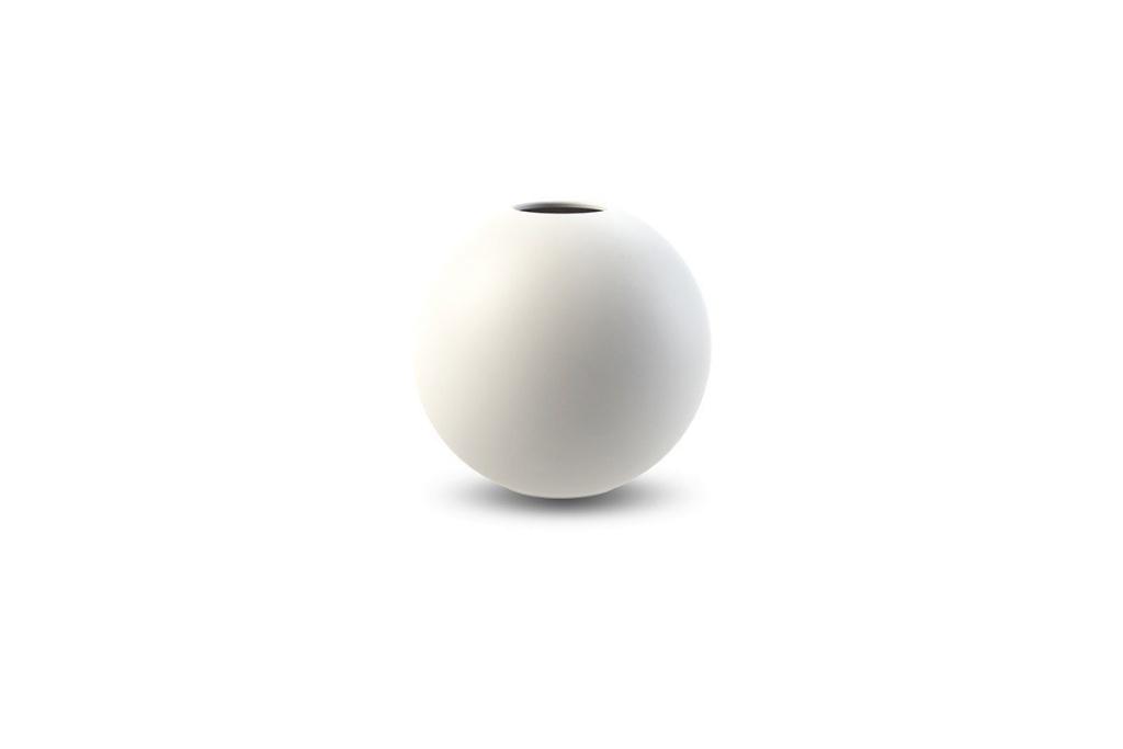 Ball Vase 10 cm - White