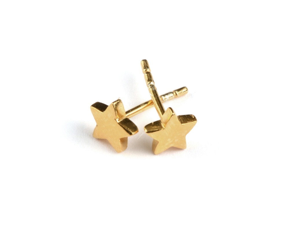 Sparkle Star Earrings - Gold