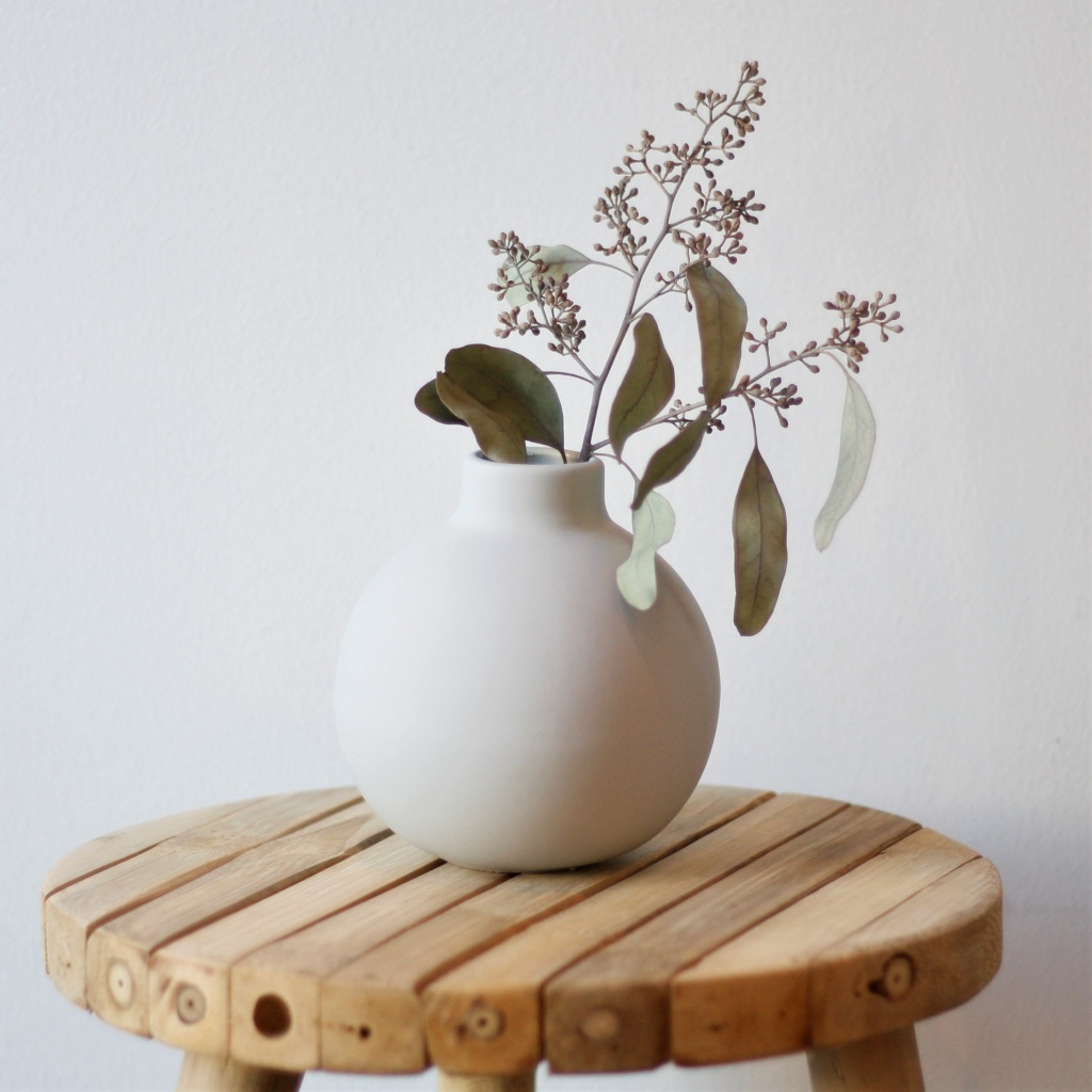Collar Vase 12 cm - Light Grey