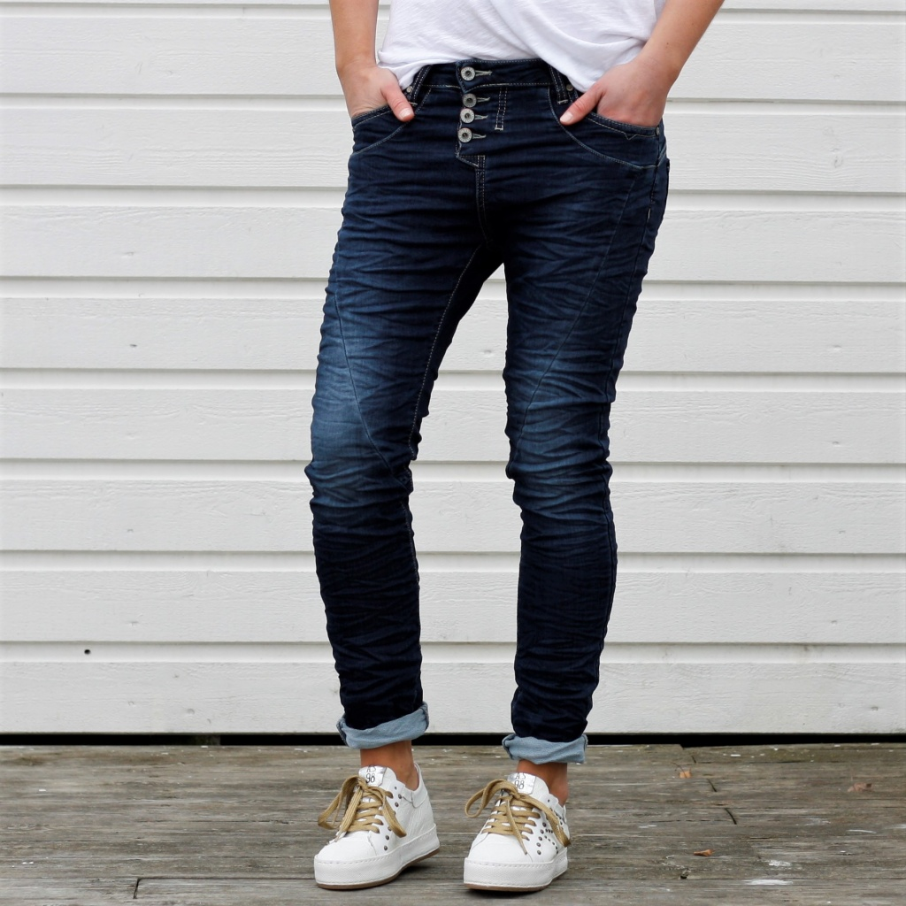 4B Classic jogging - Blue denim