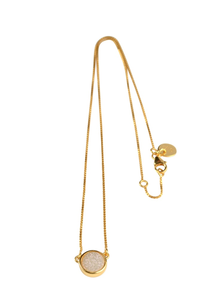 Frances Druzy Necklace - Gold Moon