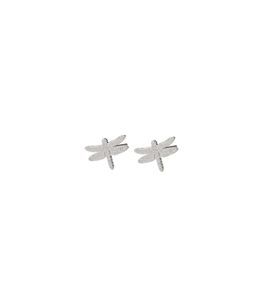 Dragonfly Studs Sparkle - Steel