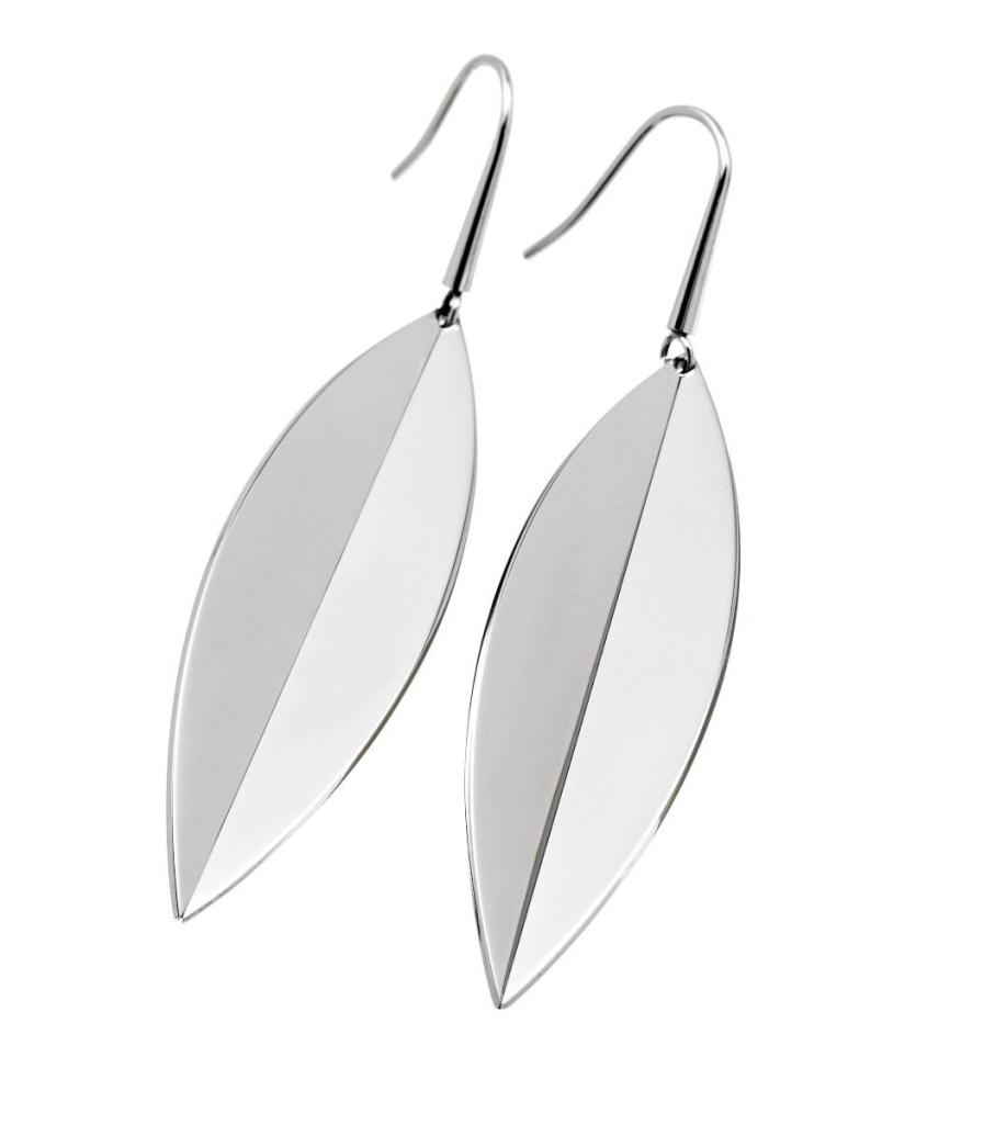 Leaf Earrings - Steel