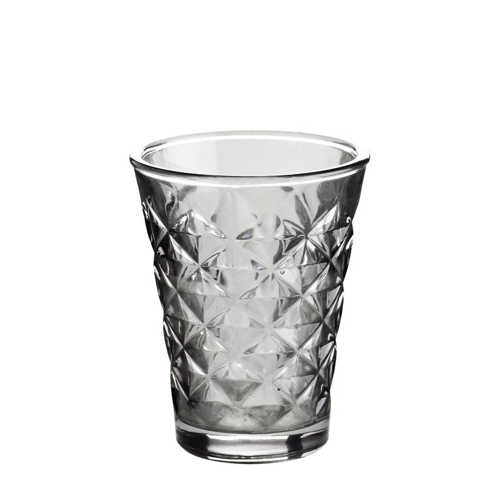 Ljuskopp grått glas H:10cm