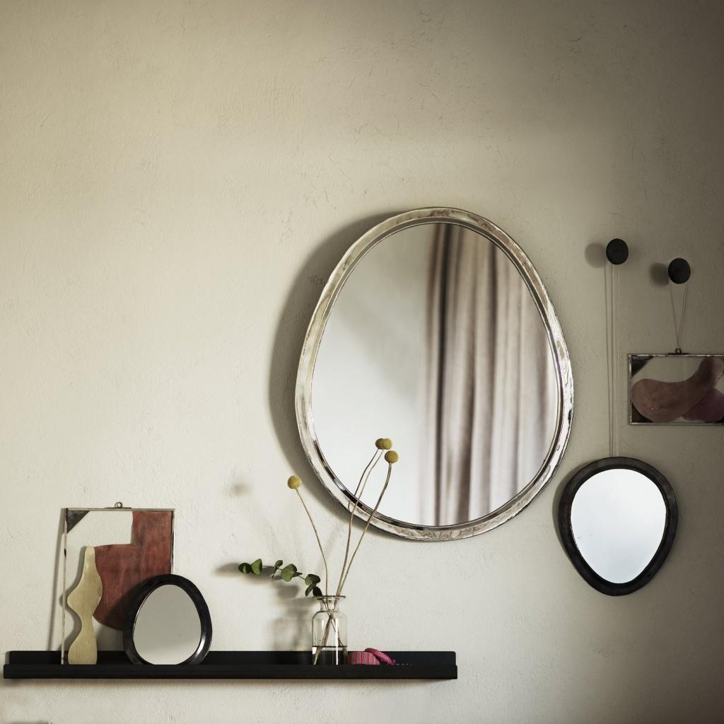 Spegel, L - Äggformad
