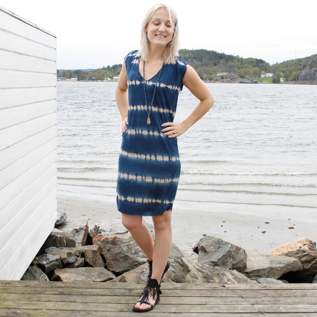 Sara klänning - Costal blue