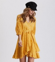 Two Step Flow Dress - Ochre