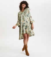 Molly Hooked Tunic - Lichen Green