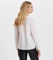 Sleeves Up Blouse - Light Chalk