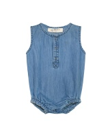 Dorian Denim Romper - Blue