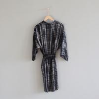 Cammi Smokey Kaftan Dress - Black/Grey