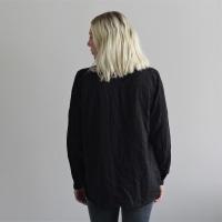 Abena basic shirt - Caviar black