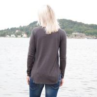 Soft Long T-Shirt - Mörkgrå