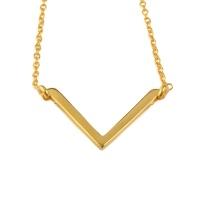 Strict Simple V Necklace - Gold
