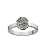 Estelle Ring - Silvery Steel