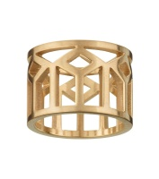 Shirin Ring - Matt Gold