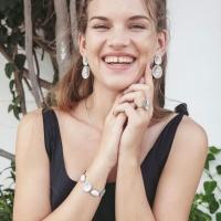 Crinkle Earrings - Matt Steel