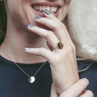 Pebble Mini Ring - Gold