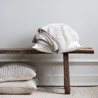 Knitted Blanket - Offwhite