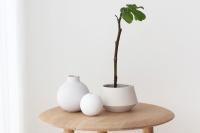 Ball Vase 8 cm - White