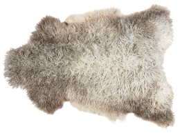 Sanda svenskt fårskinn 100x60cm - Ljus