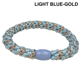 Supersnodden Hårband - Light Blue/Gold