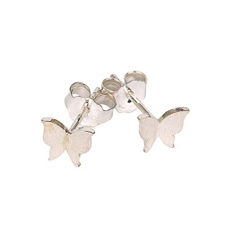 Gienah Studs Brushed - Silver