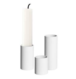 Ljusstumpar 3-Pack - Vit