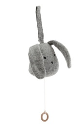 Music Mobile Rabbit - Grey Melange