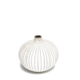 Vase Bari Medium -  Brown dots